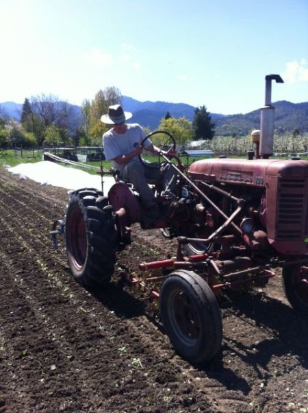 2014 Apprentice Scott cultivating the mustard seed crop